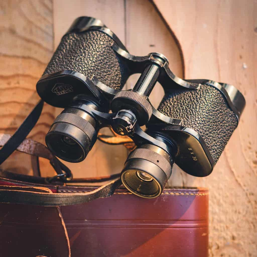 Artificial Leather Binocular Grips - Liberty Leather Goods