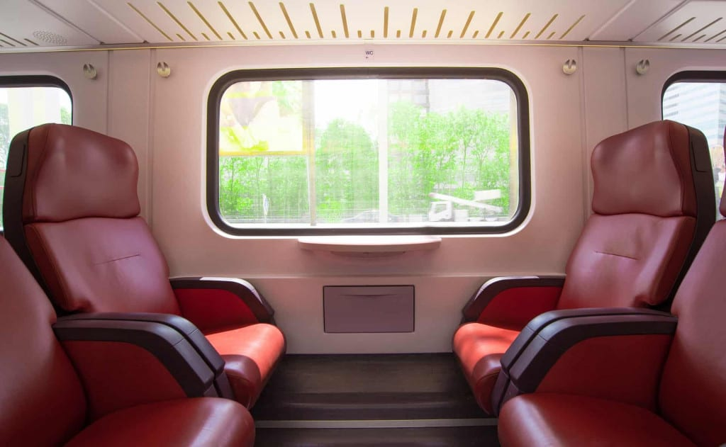 Synthetic Leather Train Seating - Liberty Leather Goods