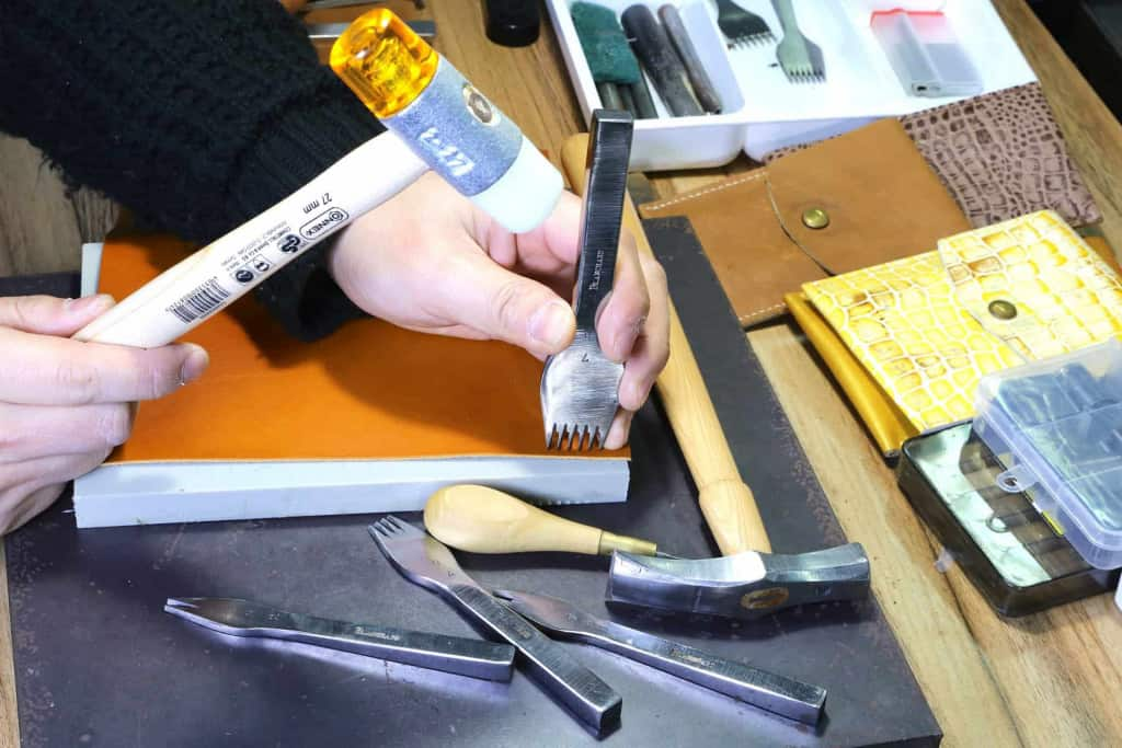 Leather Craftsman at Work - Liberty Leather Goods