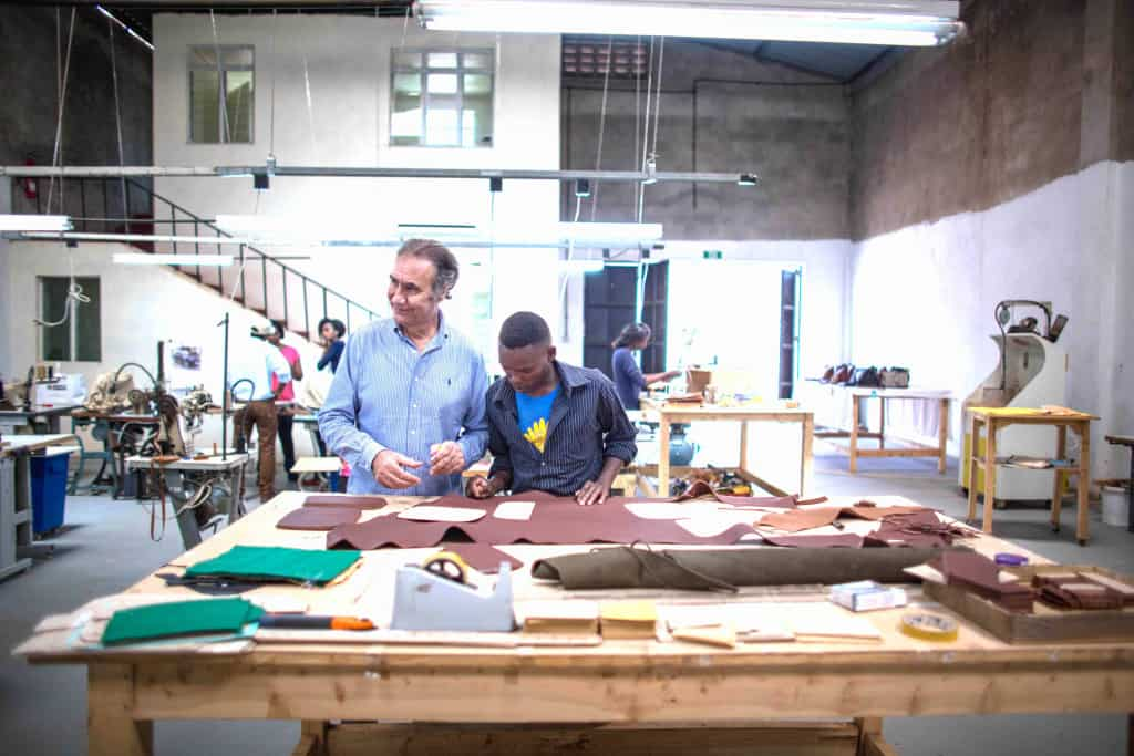 Leather Craftsmen in Workshop - Liberty Leather Goods