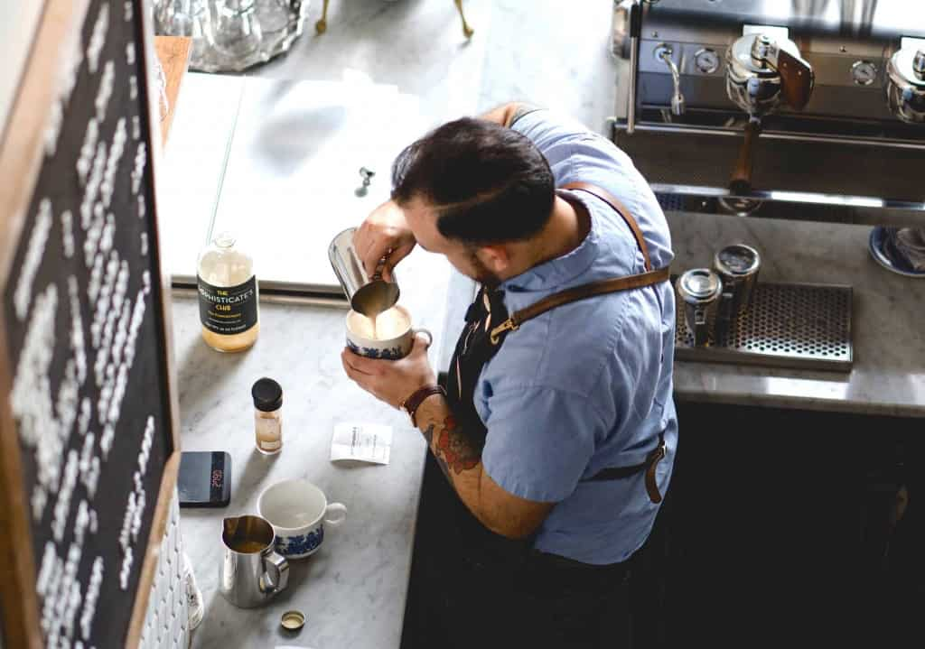 Barista with Leather Apron - Liberty Leather Goods
