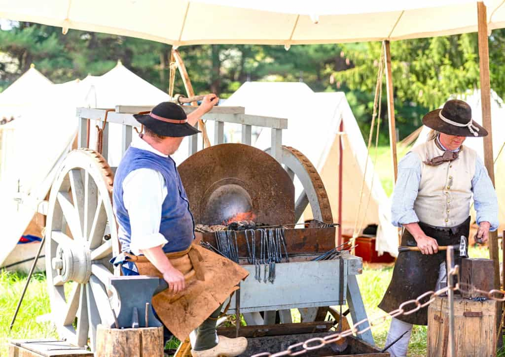 Living Historians with Waist Leather Aprons - Liberty Leather Goods