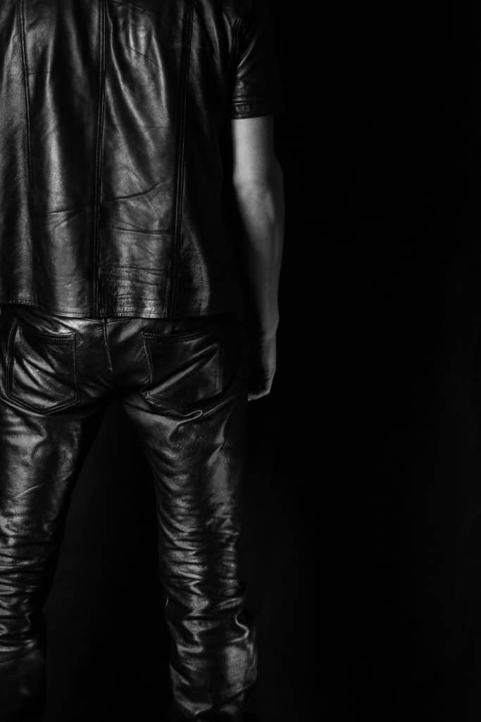 Mens Black Leather Jeans - Liberty Leather Goods