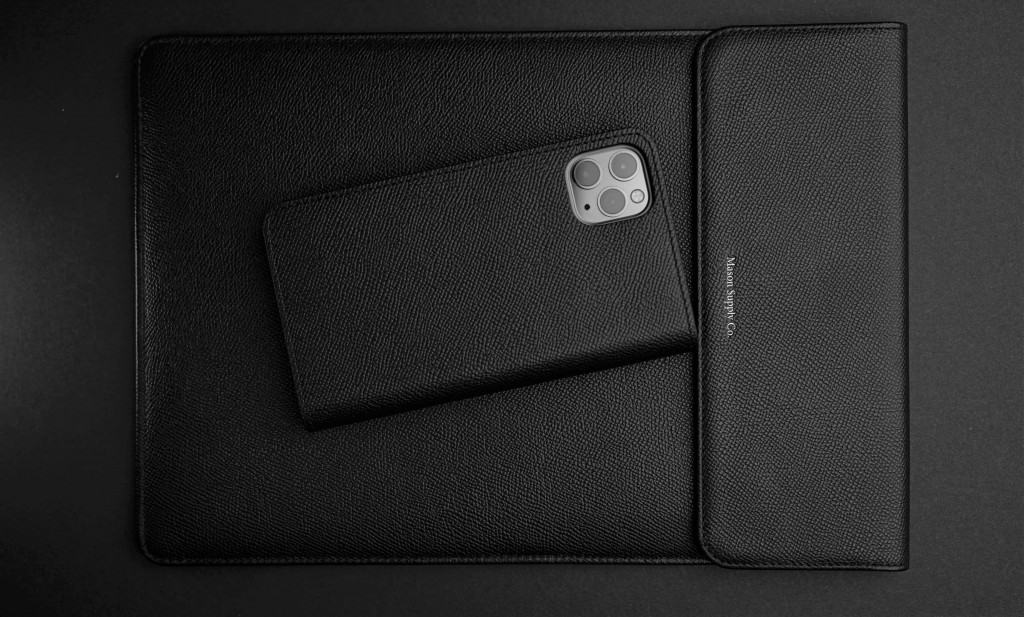Black Leather iPad and iPhone Case - Liberty Leather Goods