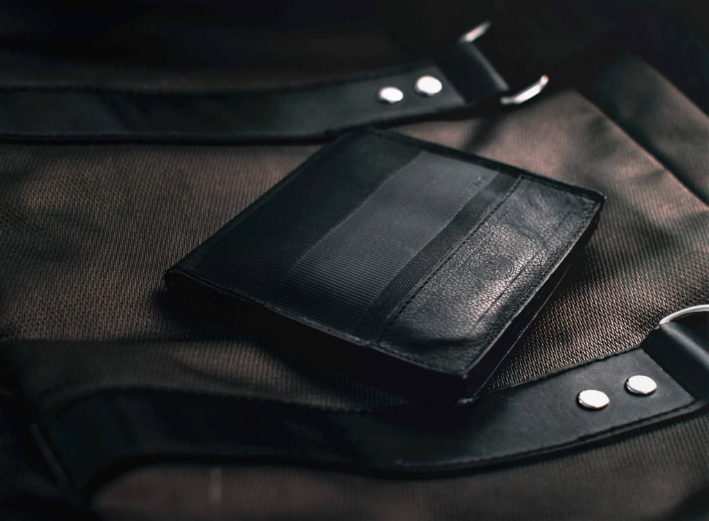 Black leather wallet - Liberty Leather Goods