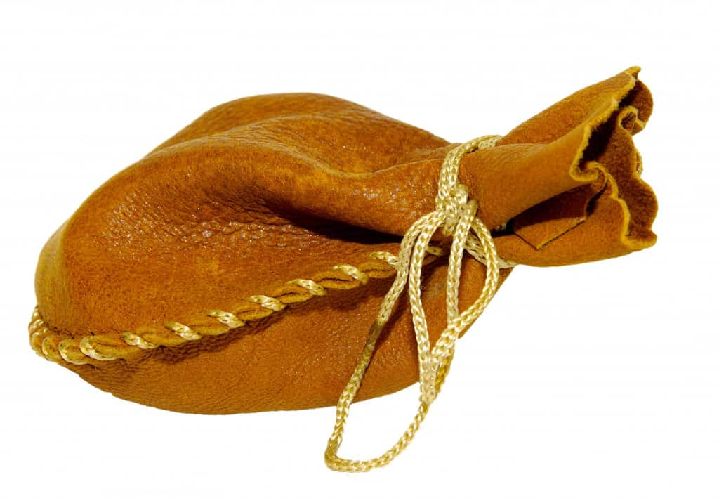 Brown Leather Drawstring Pouch - Liberty Leather Goods