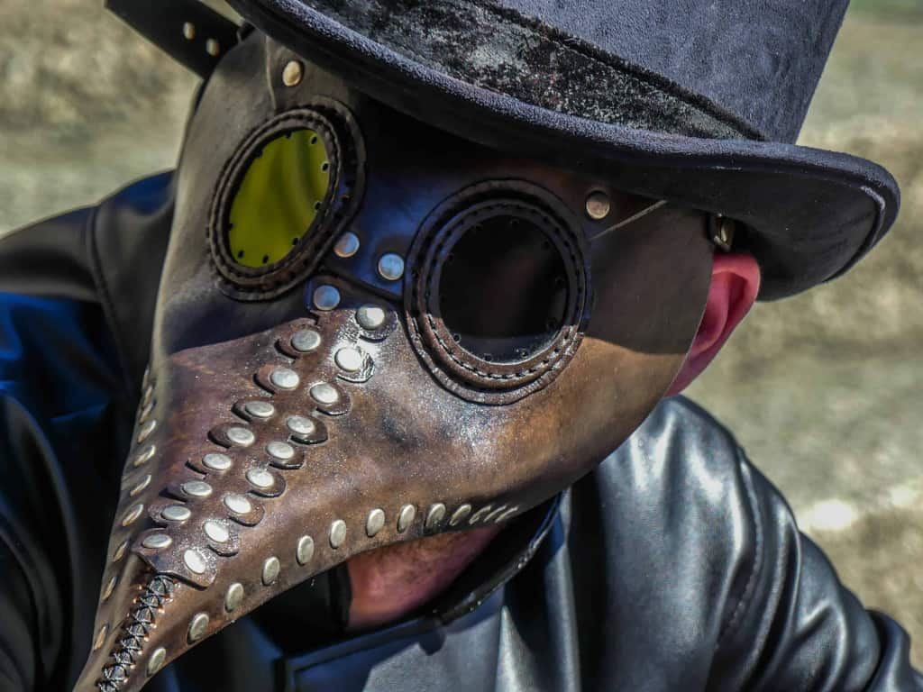 Brown Leather Plague Mask - Liberty Leather Goods