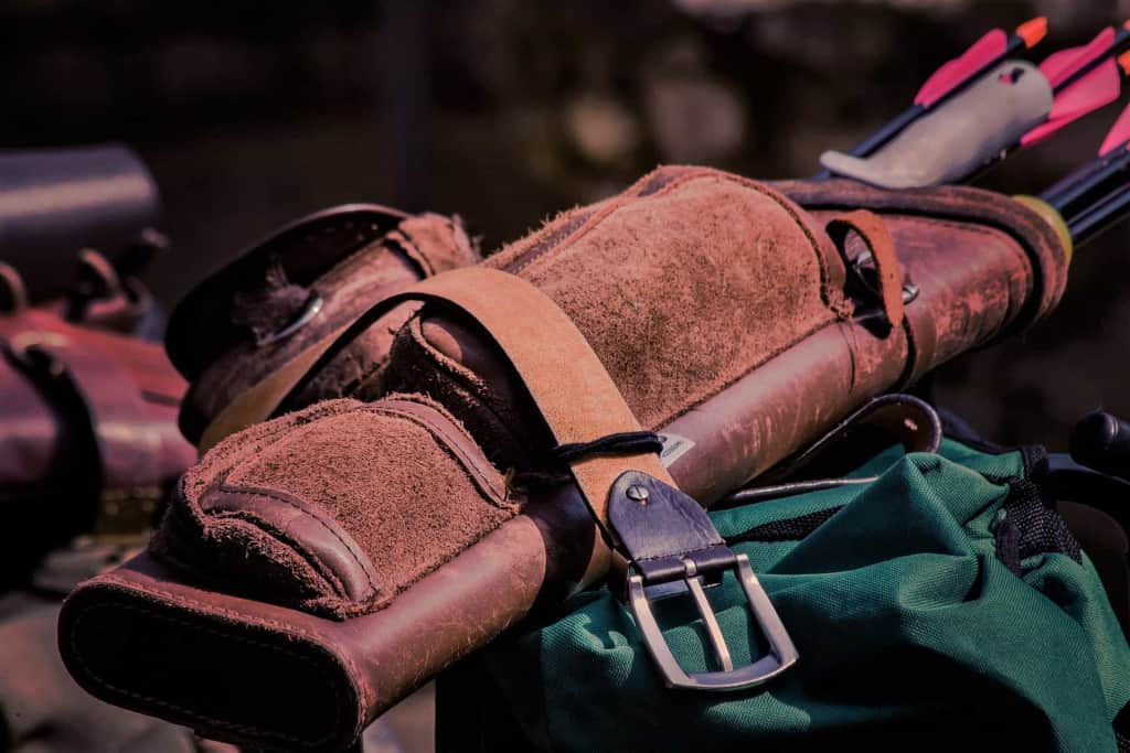 Brown Leather Sports Pouch - Liberty Leather Goods