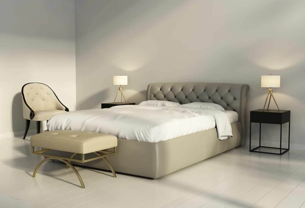 Contemporary Tan Leather Bed set - Liberty Leather Goods
