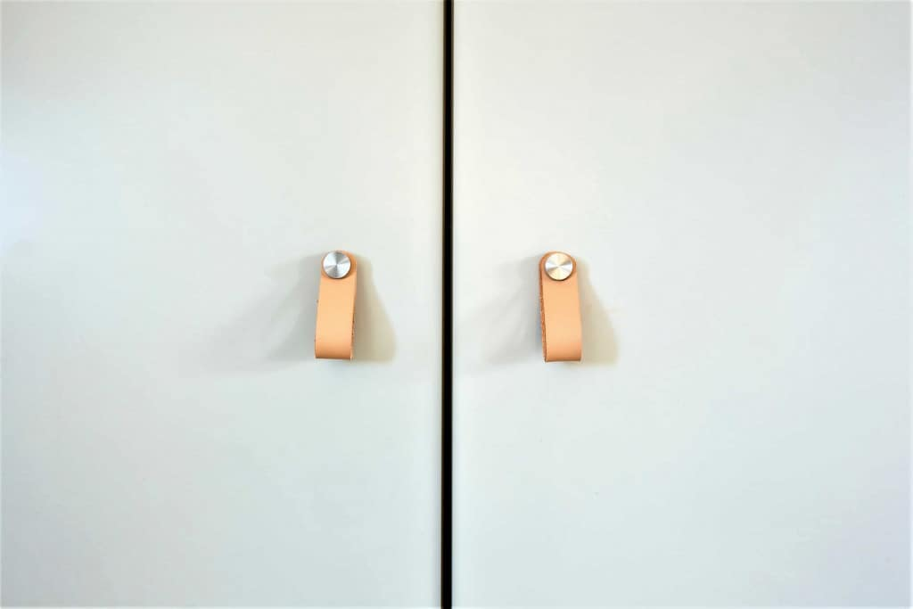 Leather Drawer Pulls with Metal - Liberty Leather Goods