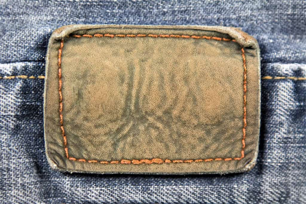 Leather Patch on Jeans - Liberty Leather Goods