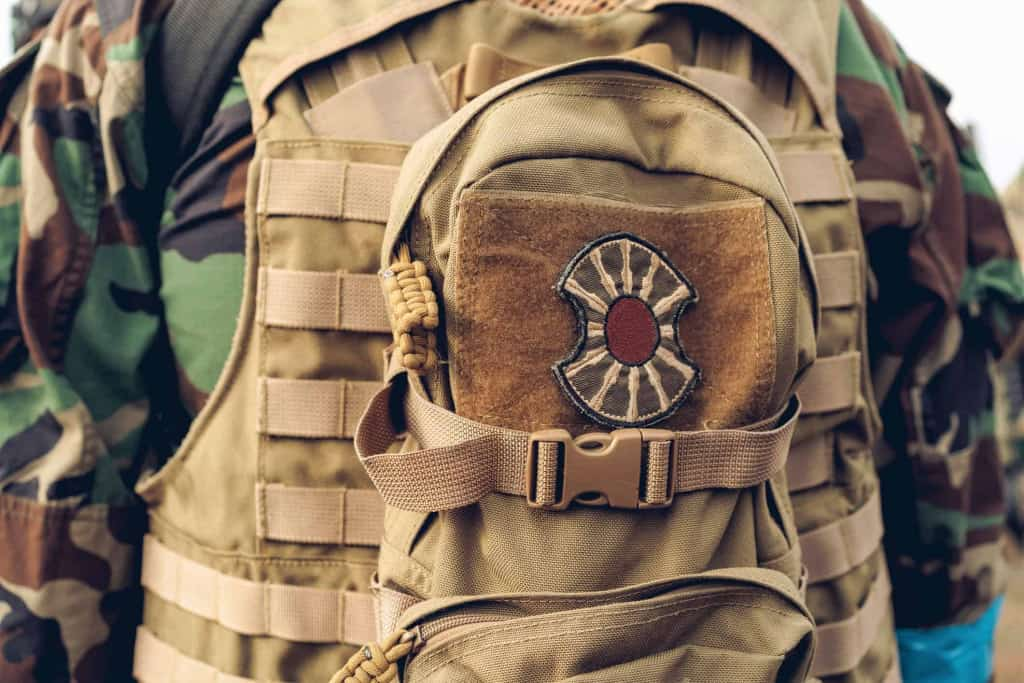 Leather Patch on Military Backpack - Liberty Leather Goods