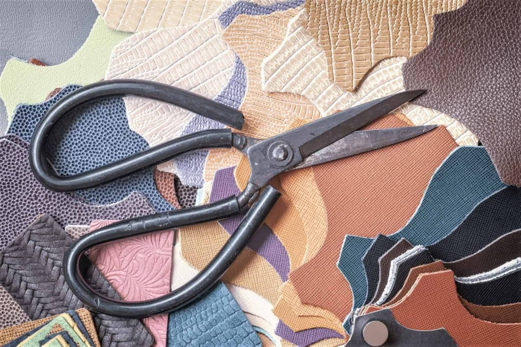 Leather Scissors with Leather Patches - Liberty Leather Goods