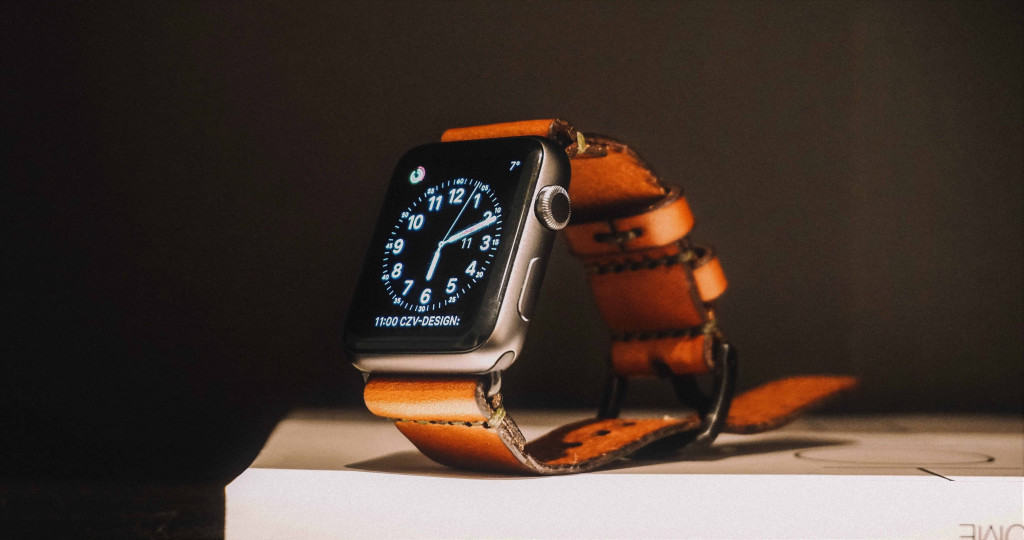 Mens Brown Leather Watch - Liberty Leather Goods