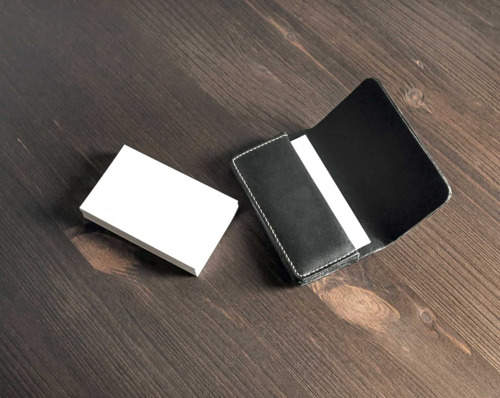 Black Leather Card Holder - Liberty Leather Goods