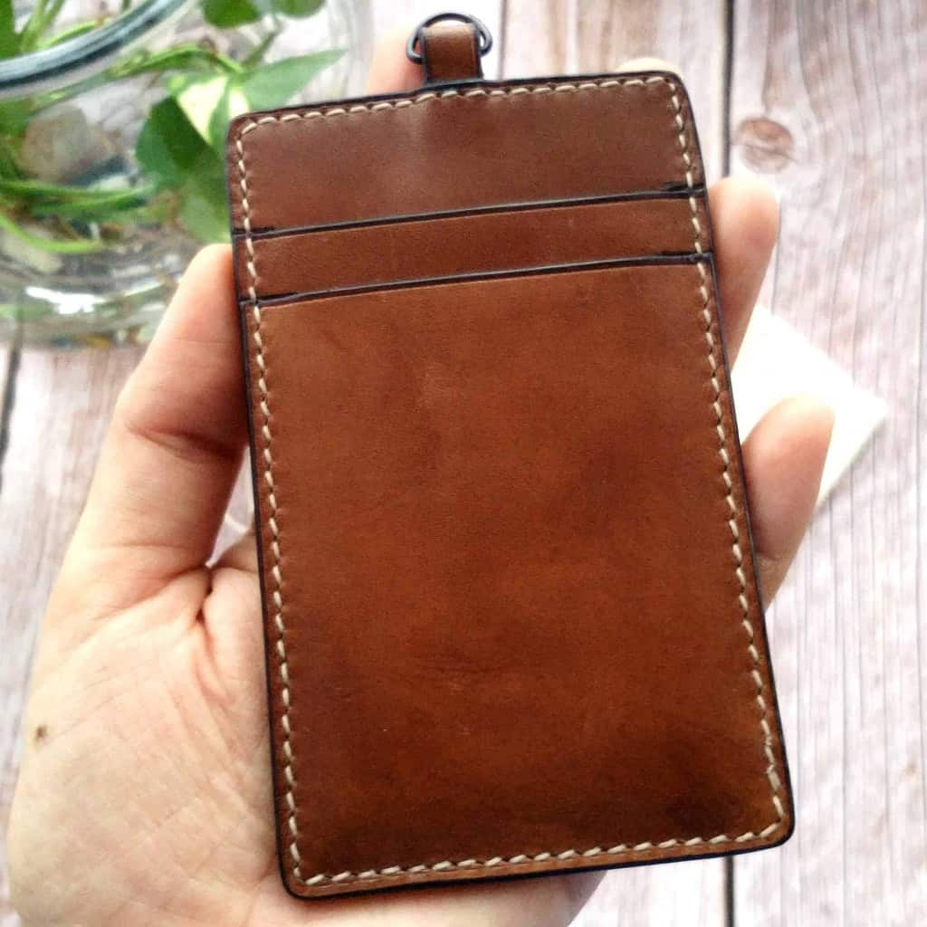 Brown Hand-Stitched Leather Card Holder - Liberty Leather Goods
