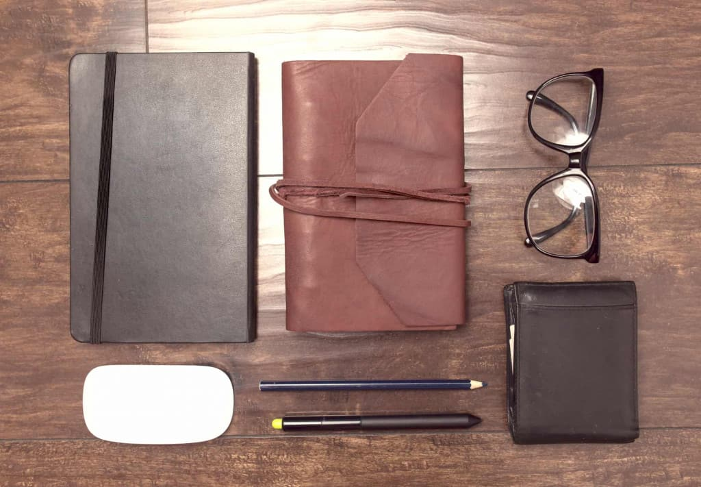 Leather Journals on a Desk - Liberty Leather Goods