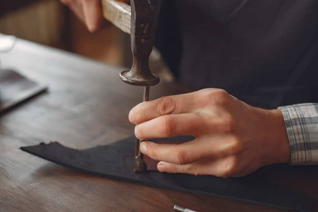 Leather Corner Punch - Punching Leather - Liberty Leather Goods