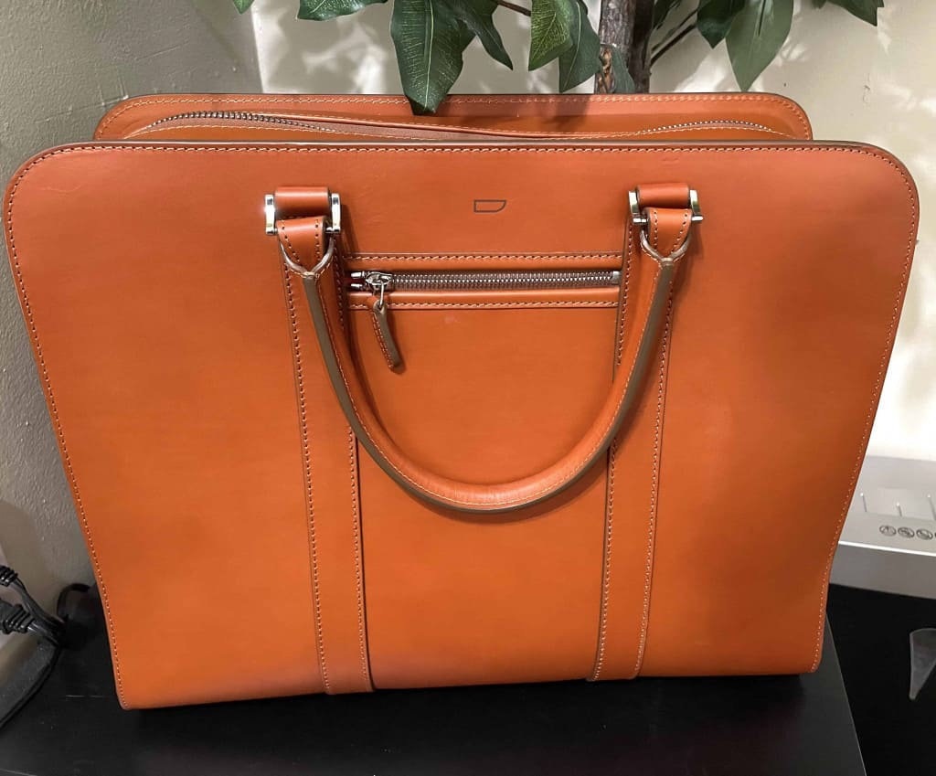 Palissy 25 Hour Large Leather Briefcase by Carl Friedrik in the Office - Leather Briefcase - Liberty Leather Goods