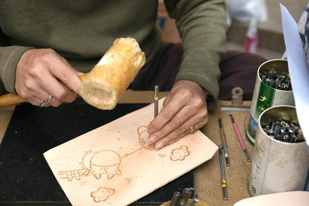 Leather Stamping with a Rawhide Mallet - Rawhide Mallet - Liberty Leather Goods