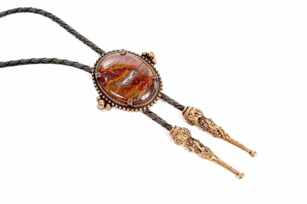 Polished Stone Bolo Tie - Bolo Tie - Liberty Leather Goods