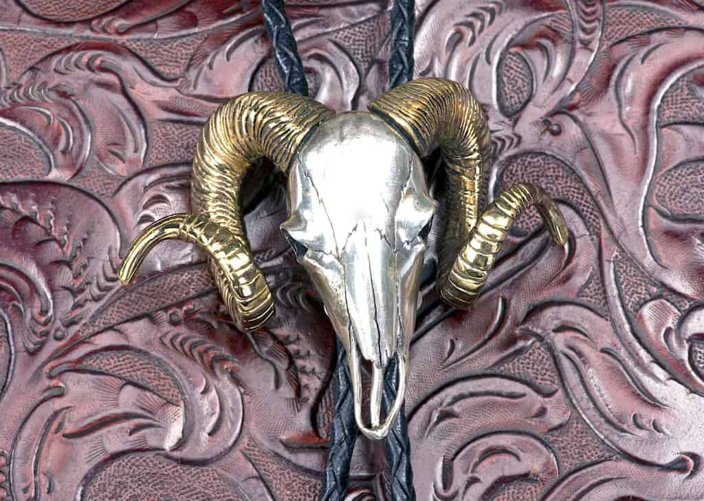 Silver and Gold Animal Bolo Tie - Bolo Tie - Liberty Leather Goods
