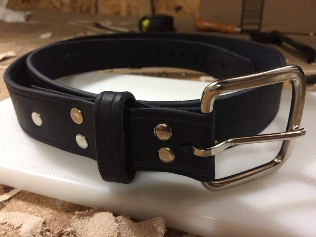 A Finished Leather Belt - How to Make a Leather Belt
