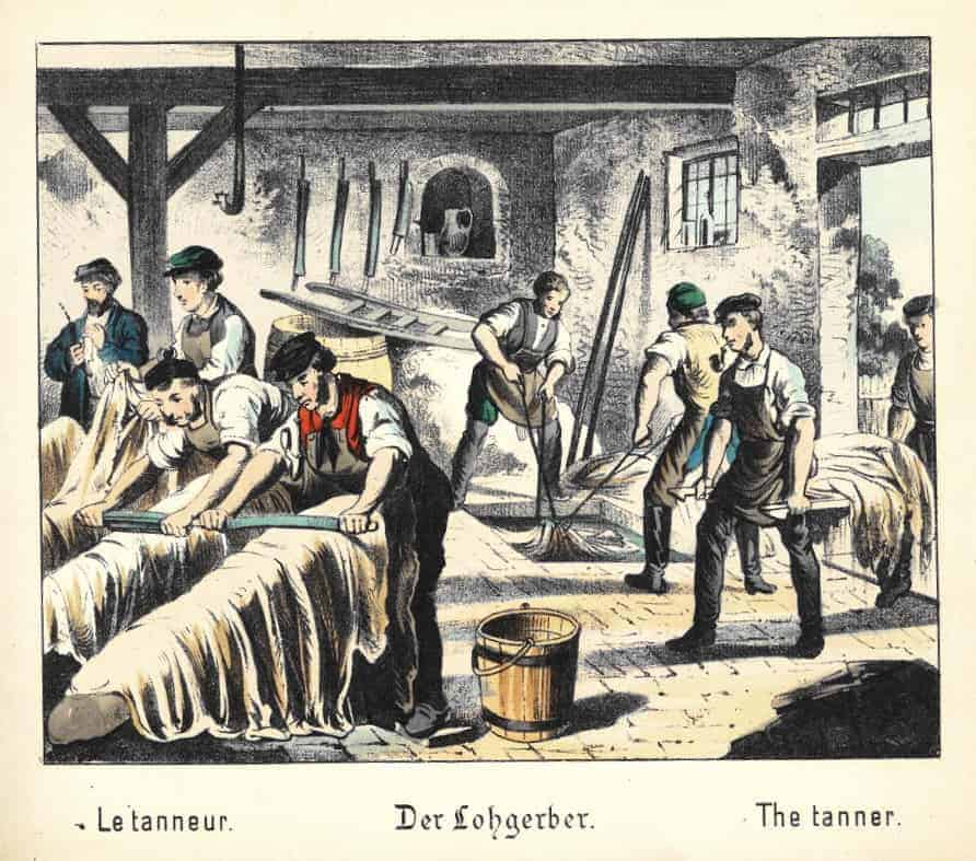 The History of Leather Craft - Leather in the Industrial Revolution - Lohgerber_1880