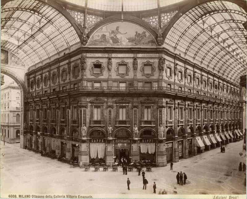 Galleria Vittorio Emmanuele II in 1880 - Saffiano Leather - Liberty Leather Goods
