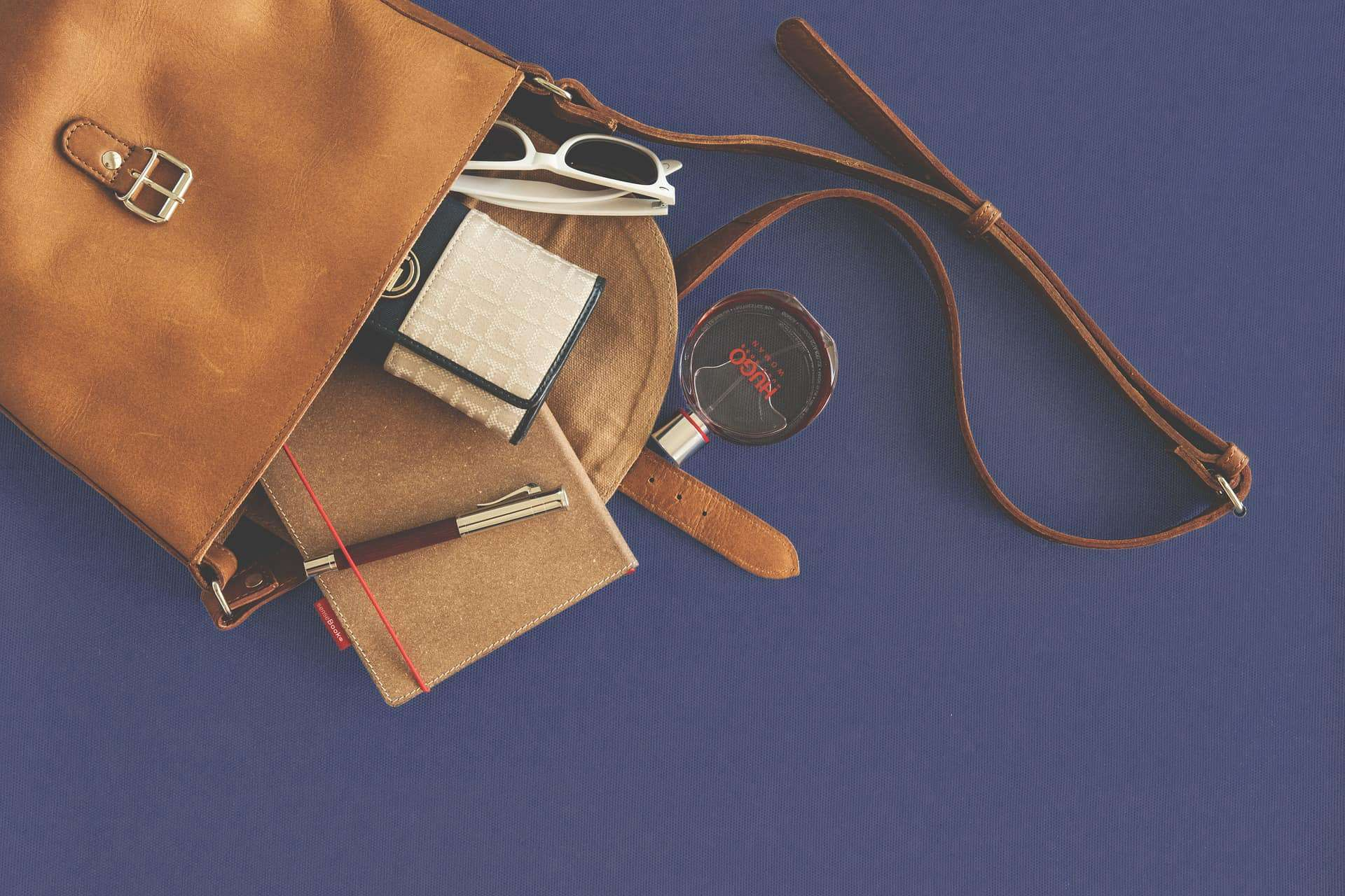 Leather Bag and Items - Liberty Leather Goods