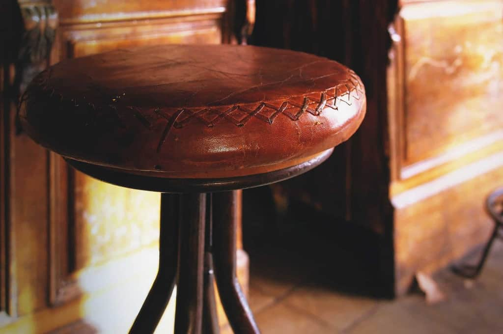 Leather Upholstered Stool - Liberty Leather Goods