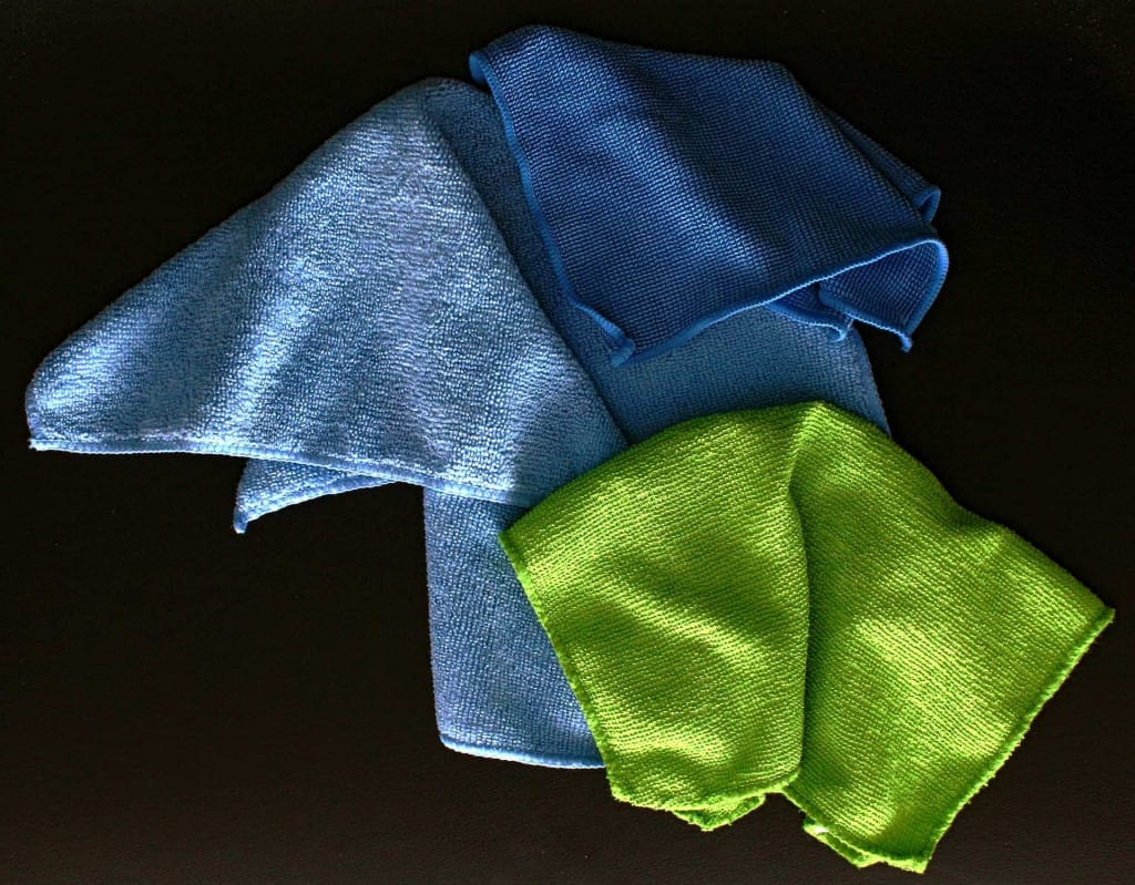 Microfiber Towels - Pebbled Leather - Liberty Leather Goods