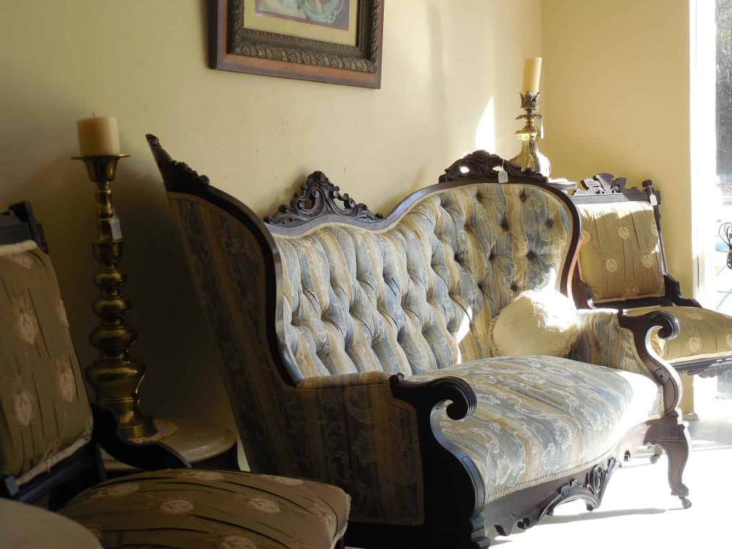 Victorian Era Living Room - The History of Leather and Leather Craft - Liberty Leather Goods
