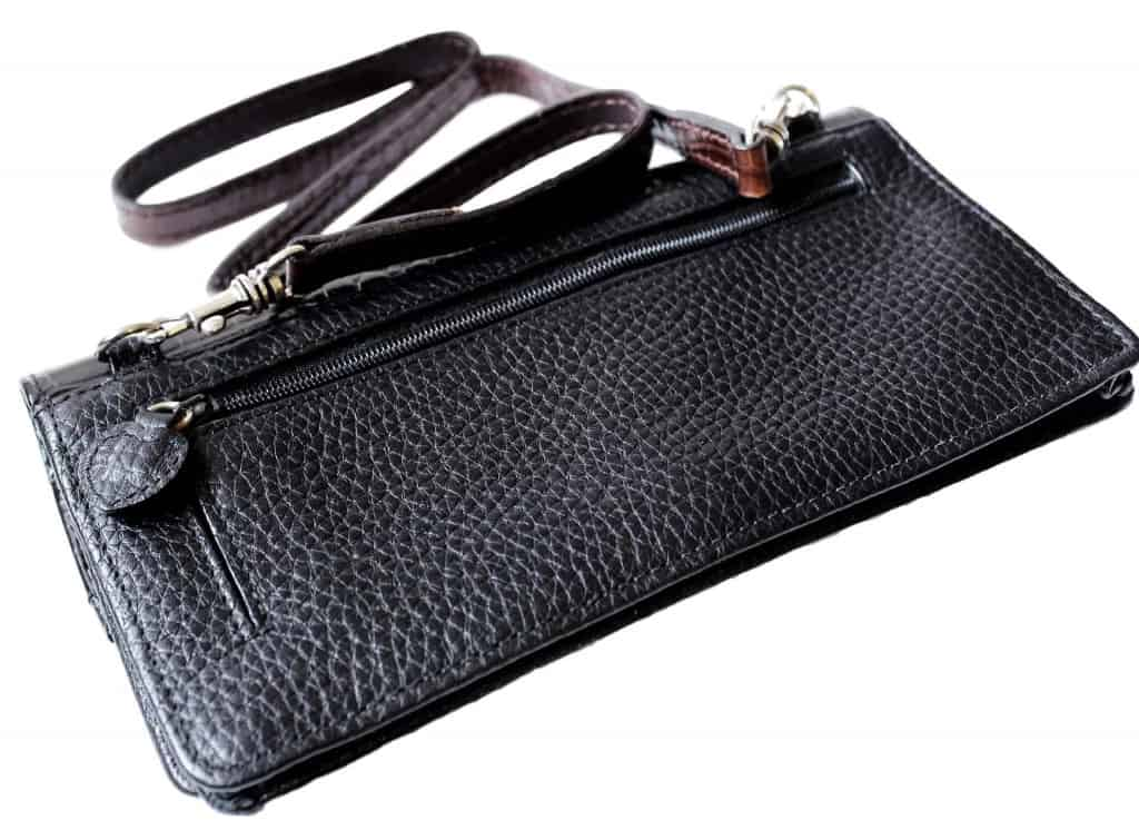 Black Leather Purse - Pebbled Leather - Liberty Leather Goods