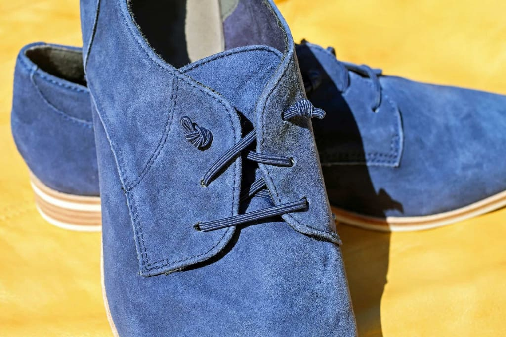 Blue Suede Leather Shoes - Liberty Leather Goods