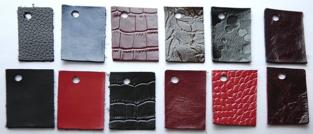 Bonded Leather Samples - Leather Buying Guide - Liberty Leather Goods