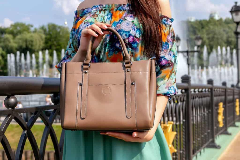 Brown Leather Handbag - Eco Leather - Liberty Leather Goods