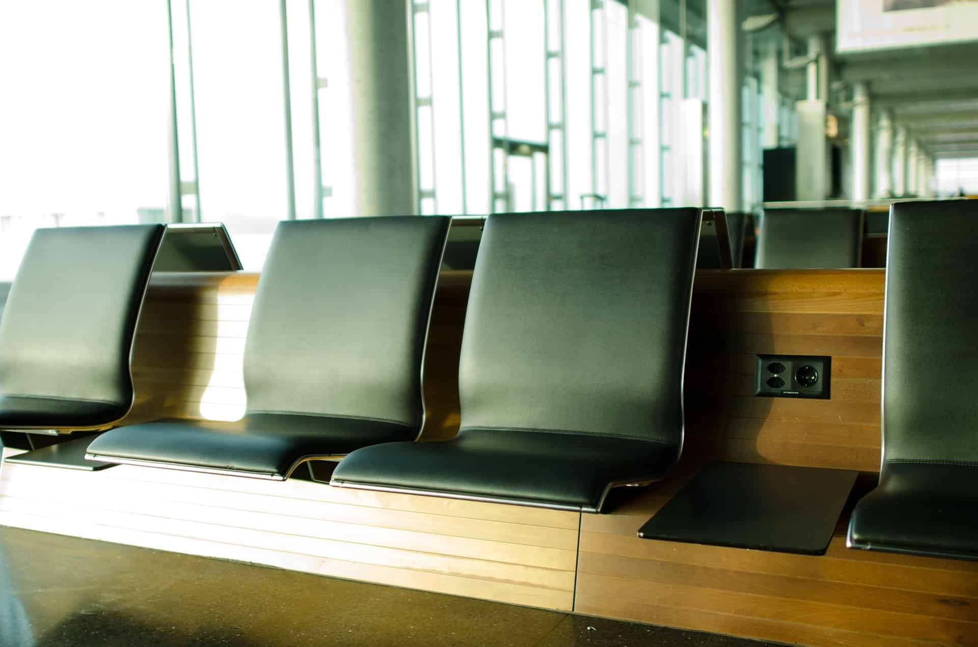 Faux Leather Airport Seating - Liberty Leather Goods