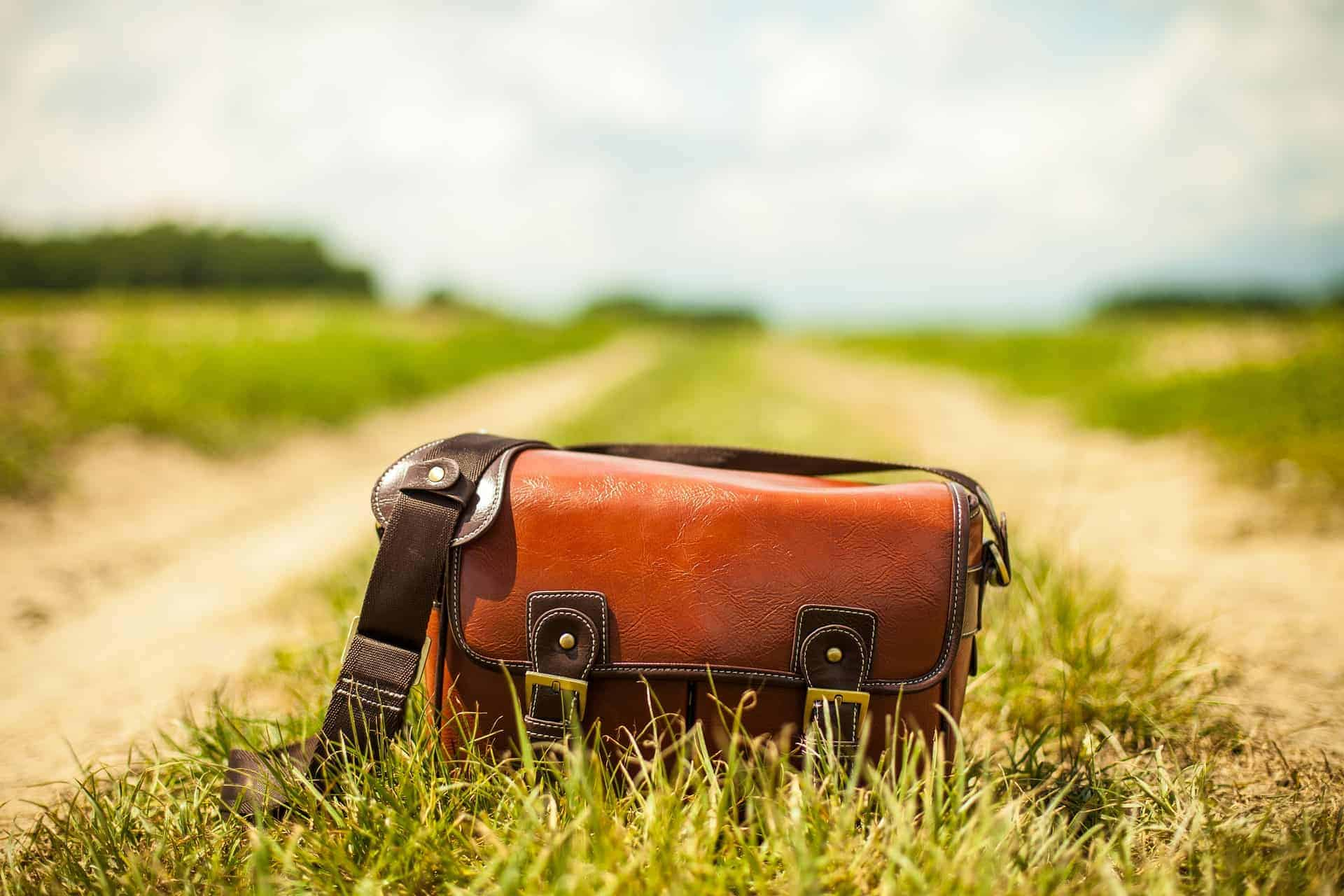 Leather Bag on a Country Road - Liberty Leather Goods