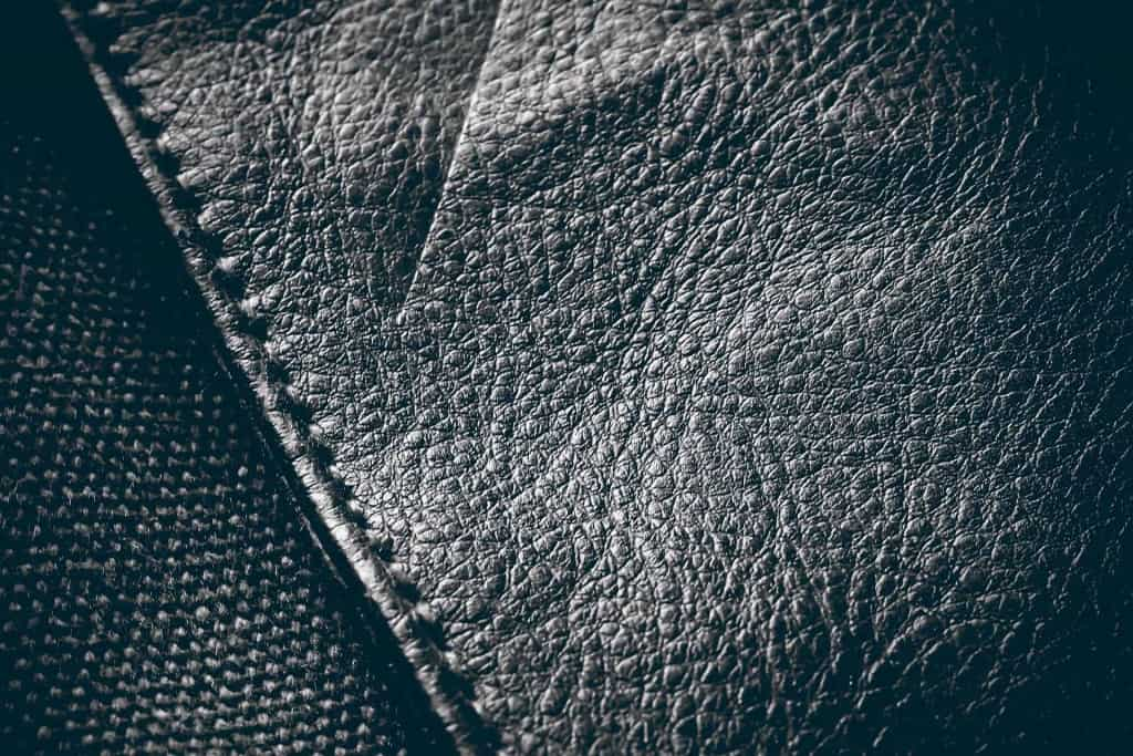 Leather Material Closeup - Pebbled Leather - Liberty Leather Goods