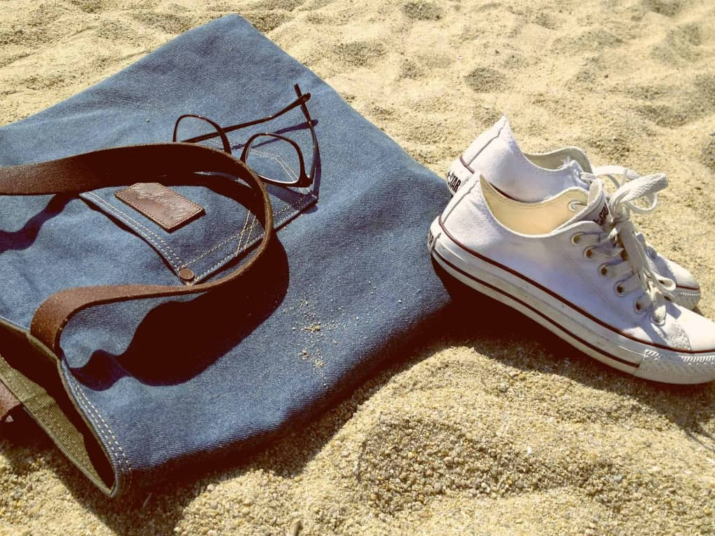 Leather Strapped Bag on Beach - Eco Leather - Liberty Leather Goods
