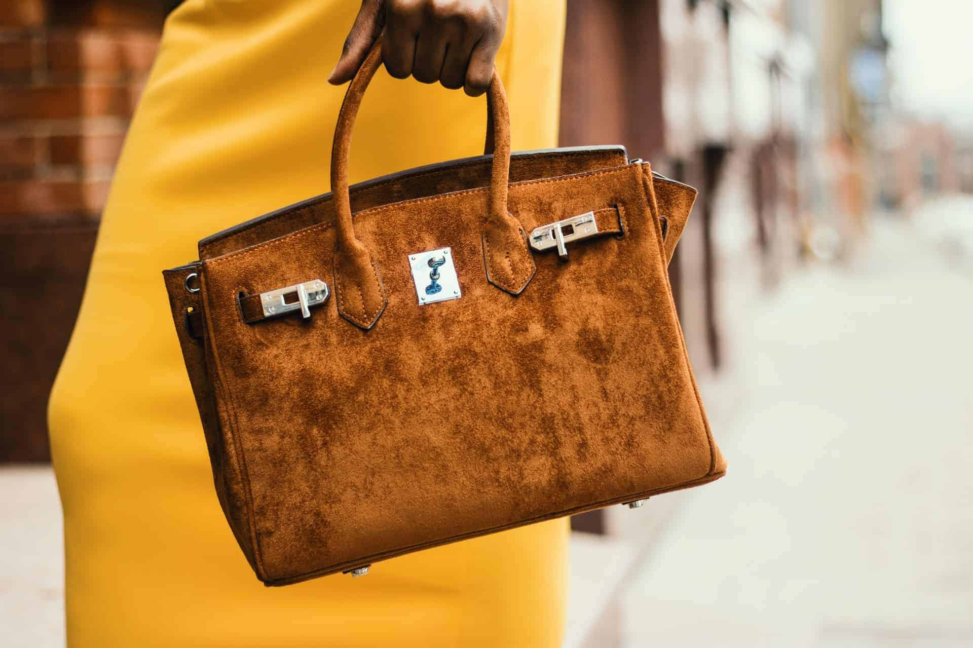 Suede Handbag - Liberty Leather Goods