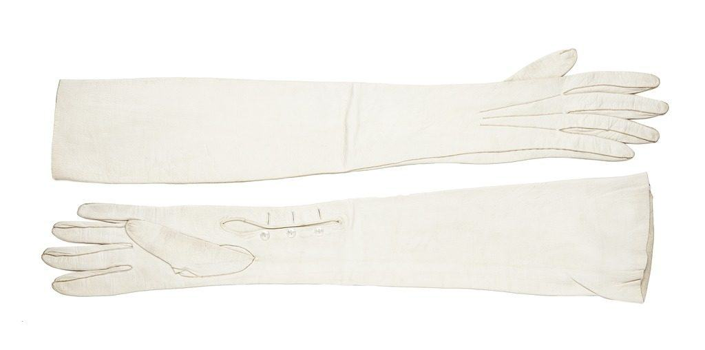 White Leather Gloves - Napa Leather - Liberty Leather Goods