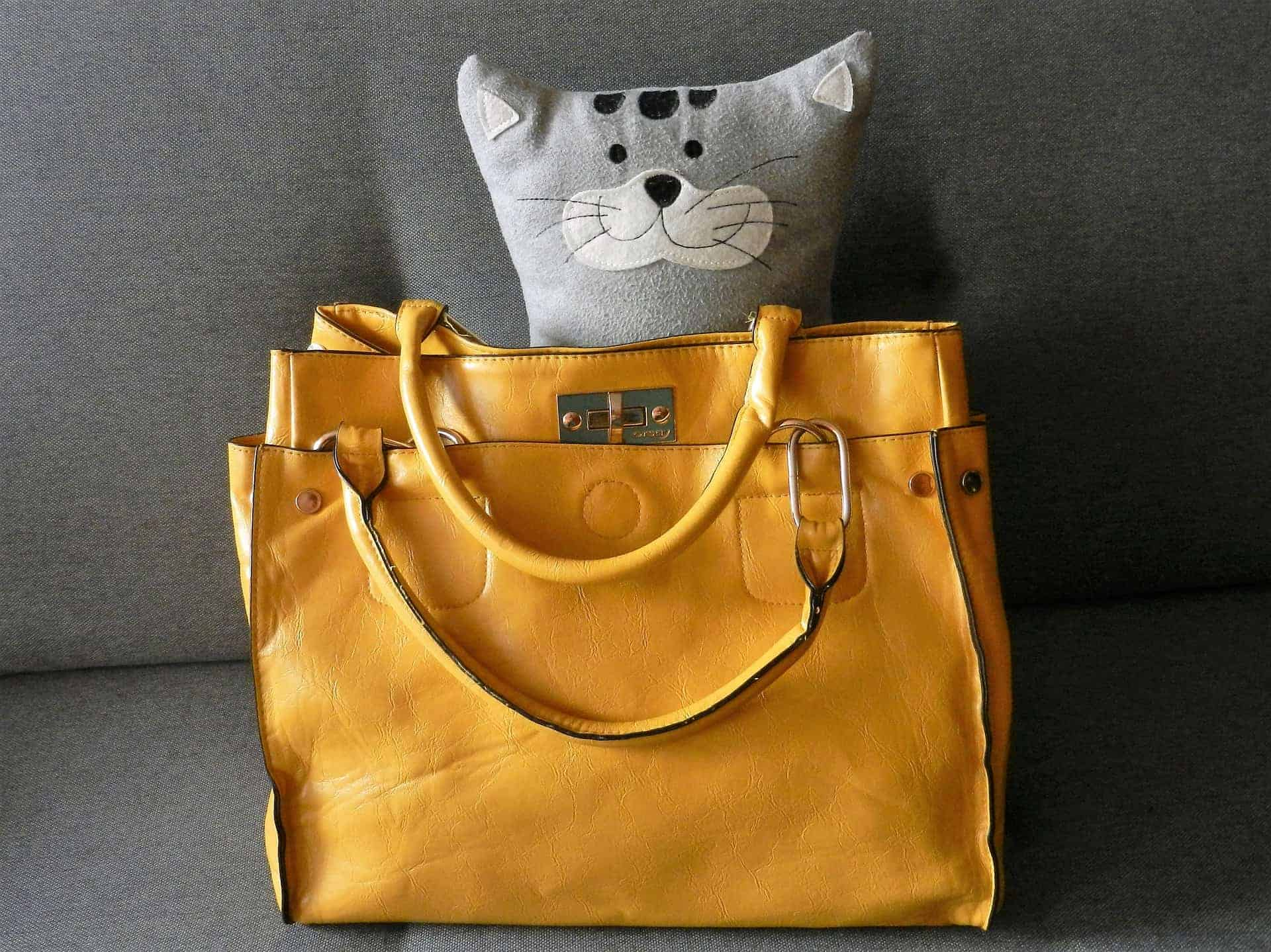 Yellow Leather Handbag - Liberty Leather Goods