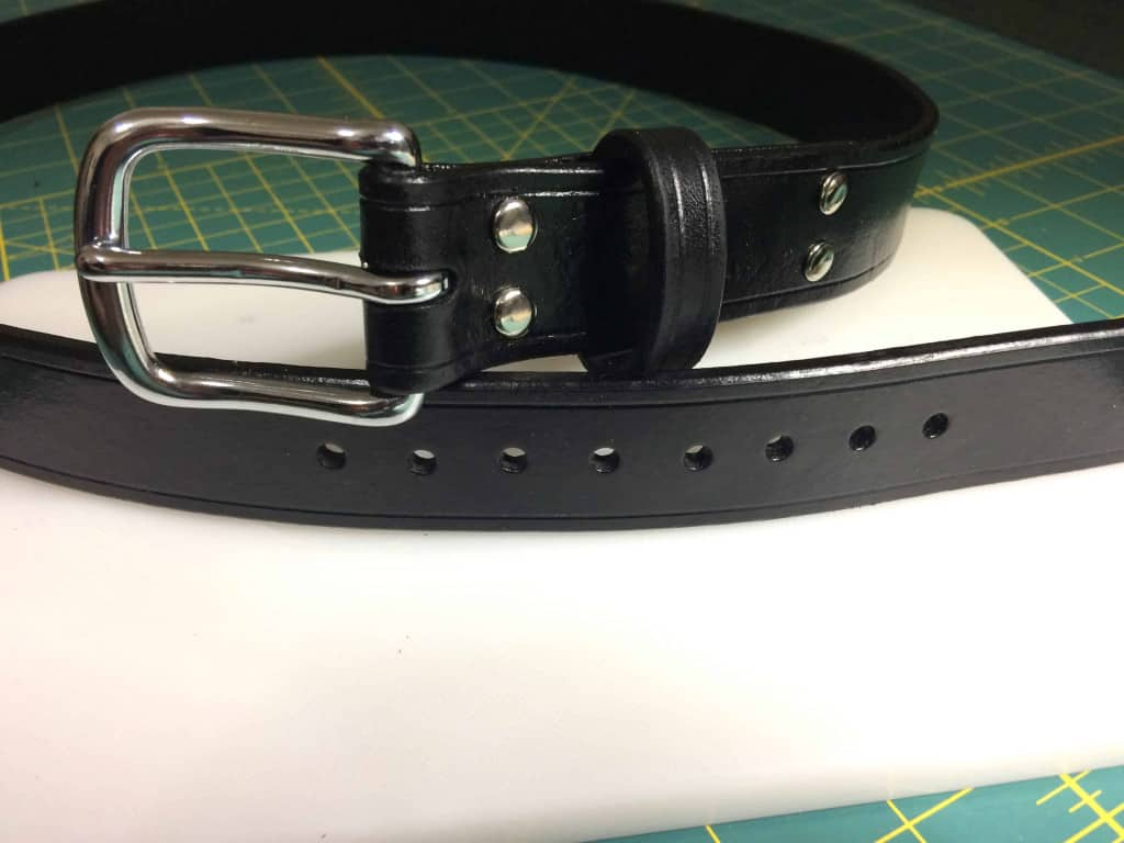 Finished Leather Belt - Liberty Leather Goods