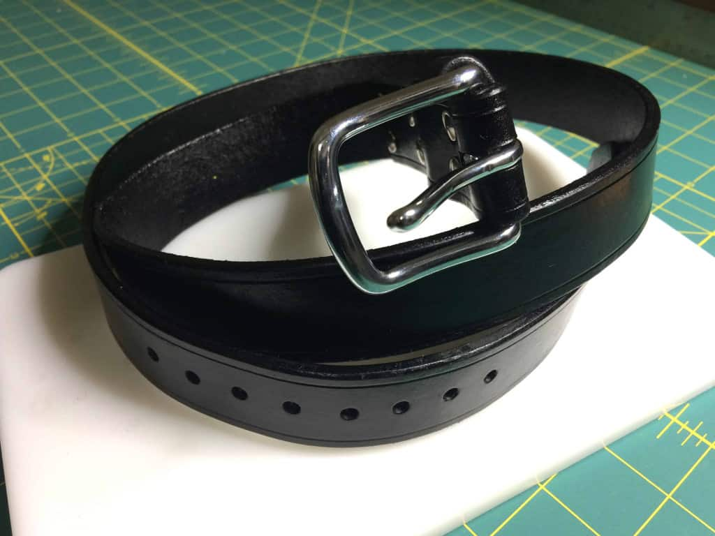 Leather Belt Dyed and Finished - How to Make a Leather Belt - Liberty Leather Goods