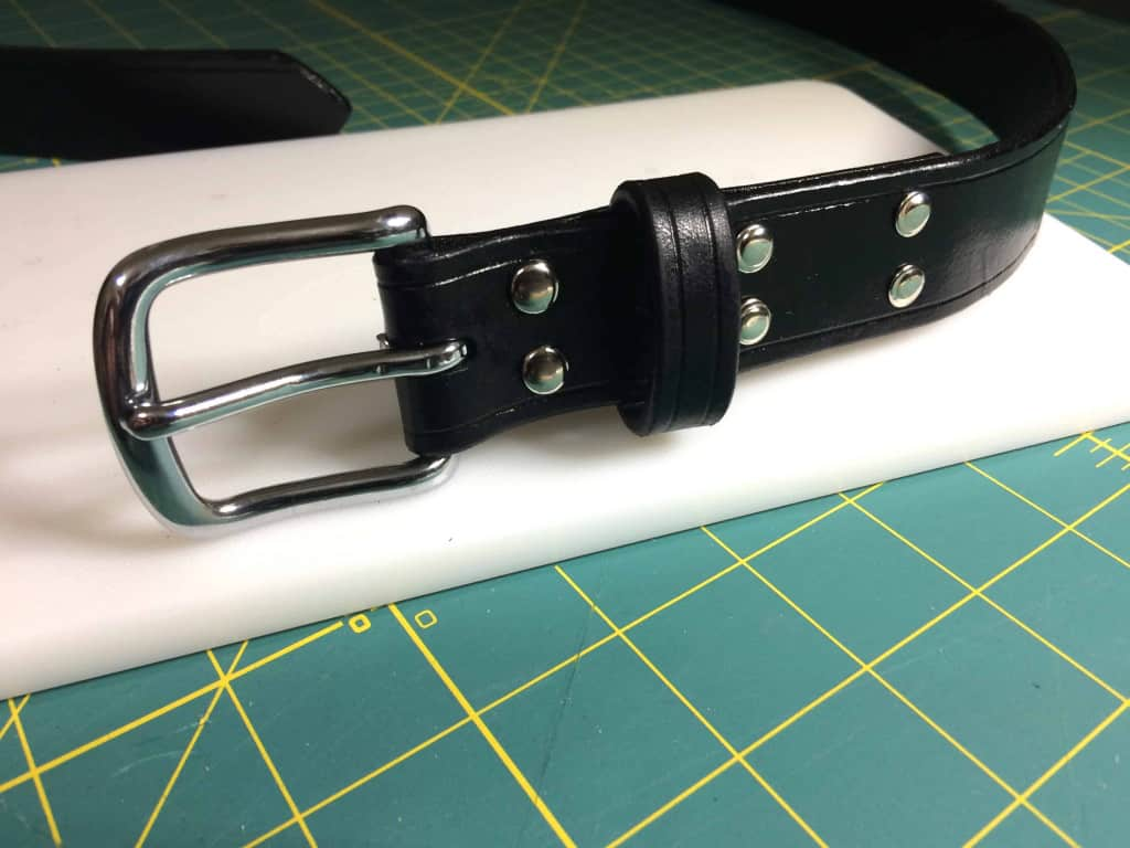 Leather Belt with Rivets - How to Make a Leather Belt - Liberty Leather Goods
