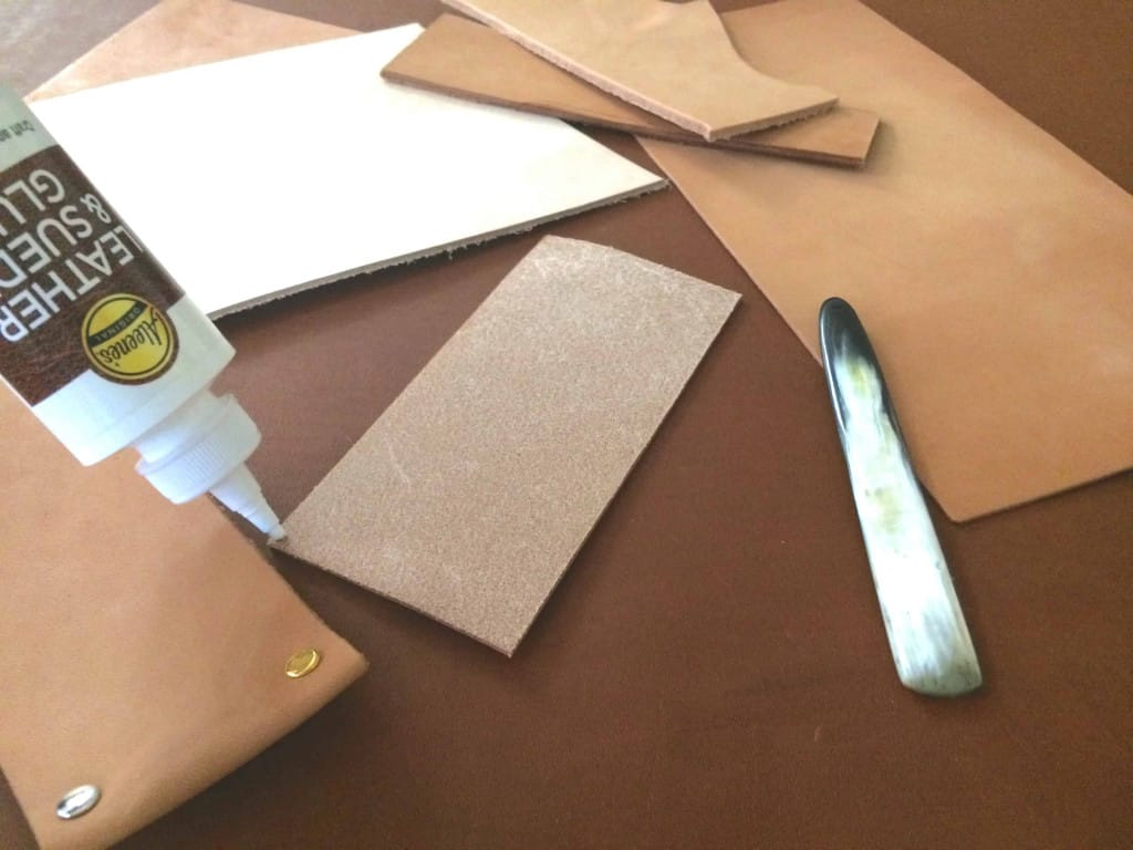 Applying Aileenes Leather and Suede Glue - How to Glue Leather - Liberty Leather Goods