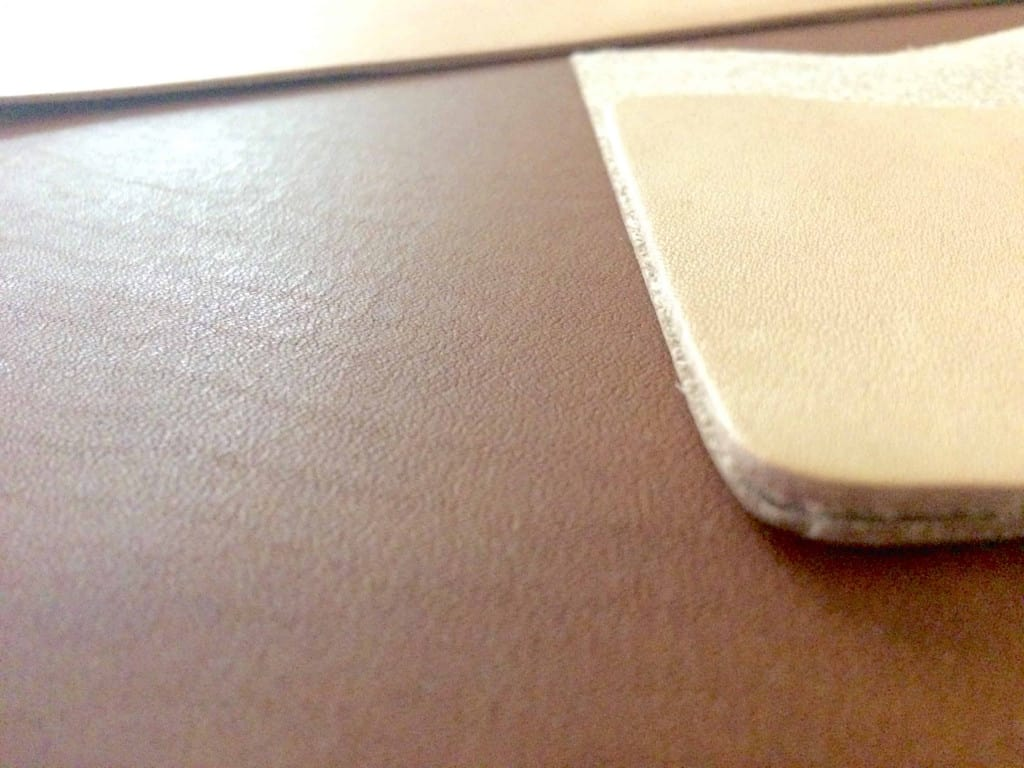 Leather Edges Pressed Together - How to Glue Leather - Liberty Leather Goods