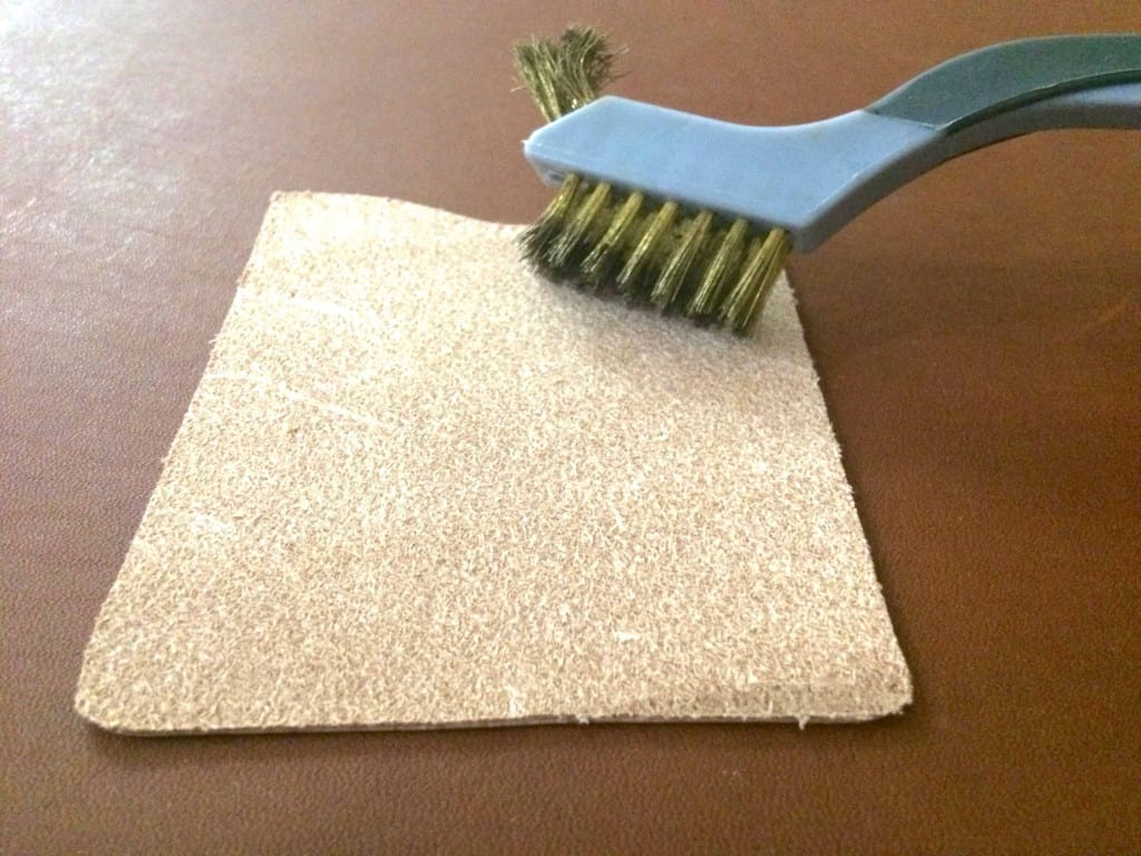 Wire Brush on Leather - How to Glue Leather - Liberty Leather Goods